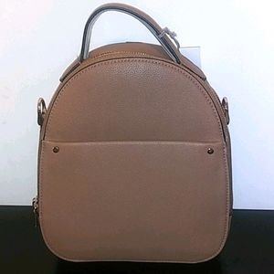 Tan Backpack With Inside & Outside Pockets